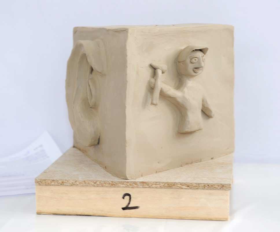 Skulpturen-Workshop mit Unternehmensleitsätzen, Teambildung, von Guido Kratz aus Hannover Bild 03