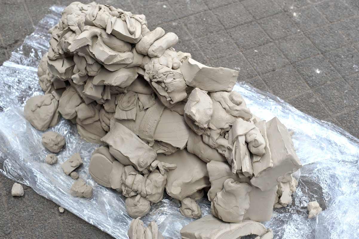 Skulpturen-Workshop mit Unternehmensleitsätzen, Teambildung, von Guido Kratz aus Hannover Bild 05