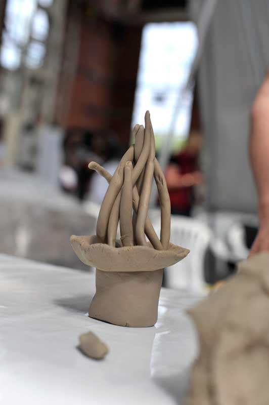 Skulpturen-Workshop mit Unternehmensleitsätzen, Teambildung, von Guido Kratz aus Hannover Bild 09