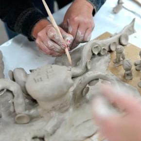 Skulpturen-Workshop mit Unternehmensleitsätzen von Guido Kratz aus Hannover Bild 10