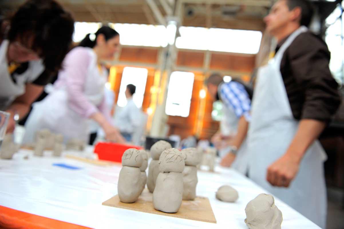 Skulpturen-Workshop mit Unternehmensleitsätzen, Teambildung, von Guido Kratz aus Hannover Bild 11