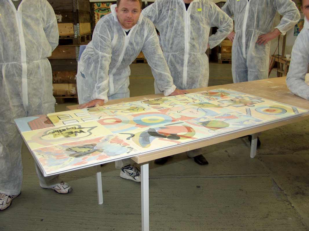 Teambildung als Kunstprojekt von Guido Kratz aus Hannover mit Haworth Bild 06