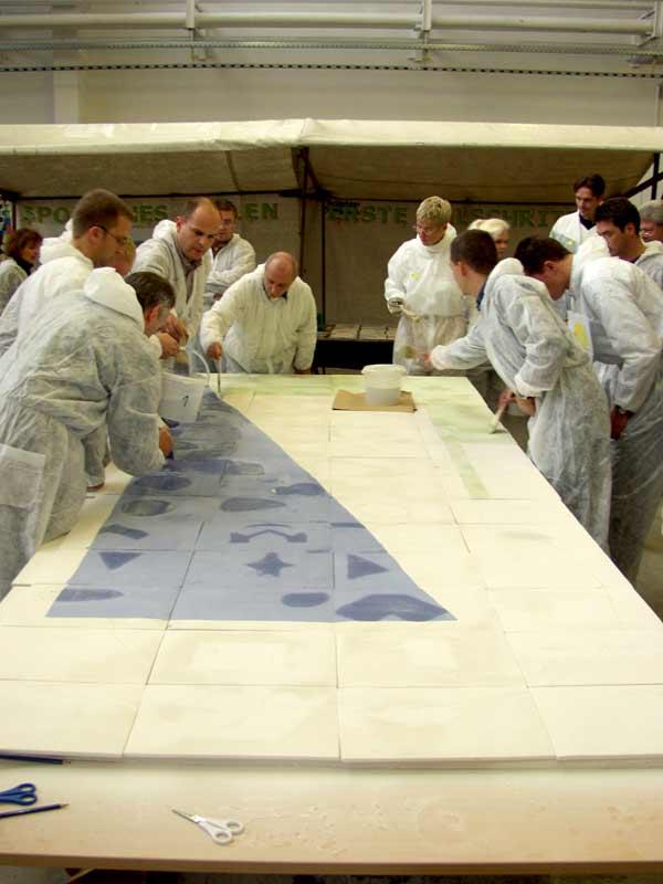 Teambildung als Kunstprojekt von Guido Kratz aus Hannover mit Haworth Bild 10