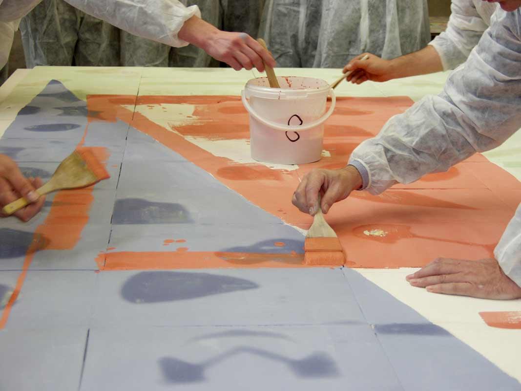 Teambildung als Kunstprojekt von Guido Kratz aus Hannover mit Haworth Bild 11