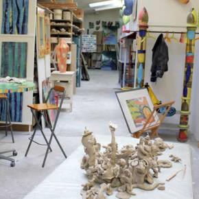 Eindrücke vom Zinnober Kunstvolkslauf 2015 02 im Atelier von Guido Kratz