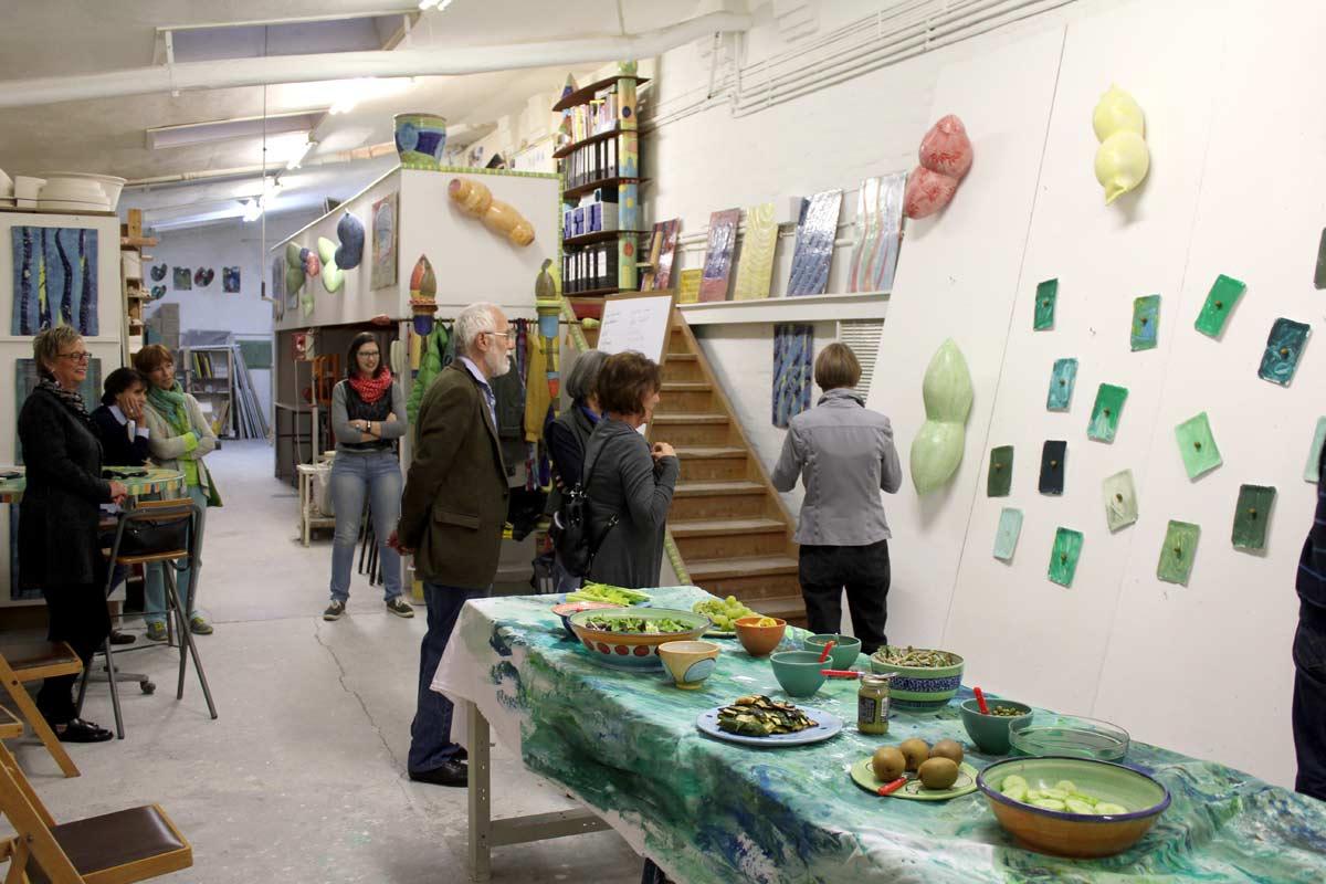 """""""Alles nochmal in grün"""", Ausstellung von Guido Kratz und R.F. Myller aus Hannover 02"""