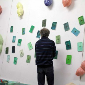 """""""Alles nochmal in grün"""", Ausstellung von Guido Kratz und R.F. Myller aus Hannover 03"""