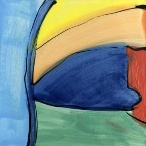 Fayence-Malerei auf hochgebrannter Keramikfliese von Guido Kratz aus Hannover