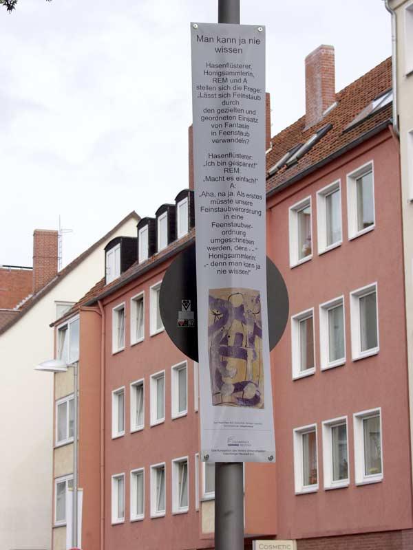 """Bild 03, aus """"malText 30169"""", ein Kunstprojekt von Guido Kratz und Maria Eilers aus Hannover"""