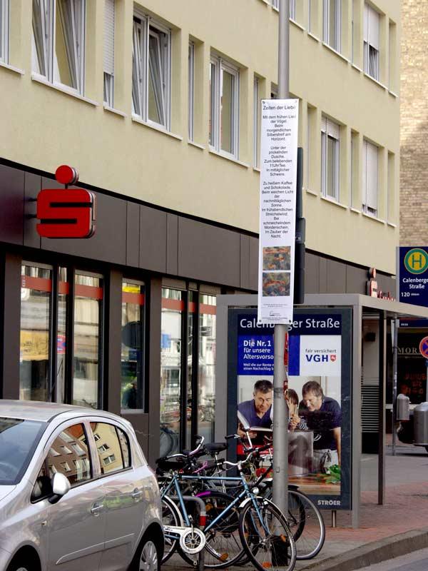 """Bild 05, aus """"malText 30169"""", ein Kunstprojekt von Guido Kratz und Maria Eilers aus Hannover"""